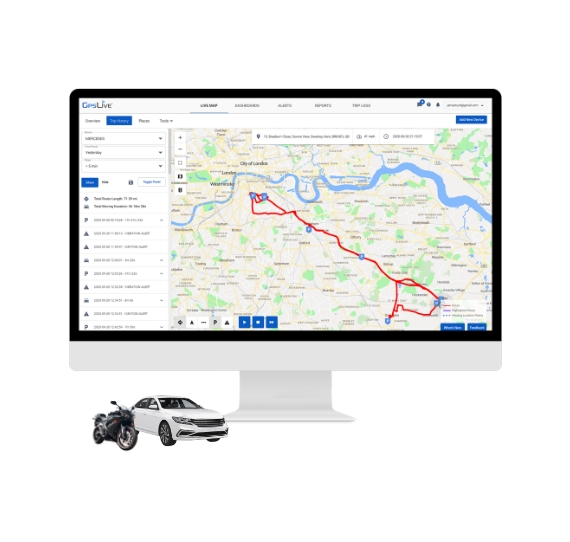 DB2 GPS Lokalizátor do auta Monitoring Poloha vozidiel