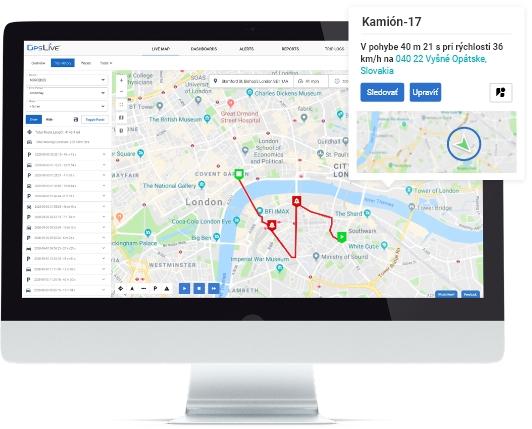 GPS lokátor Monitoring vozidiel Moja poloha