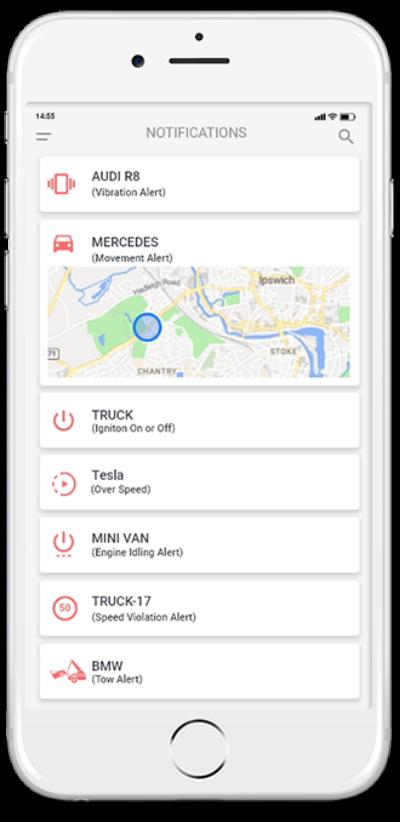Notifikácie GPS lokátor Sledovanie polohy
