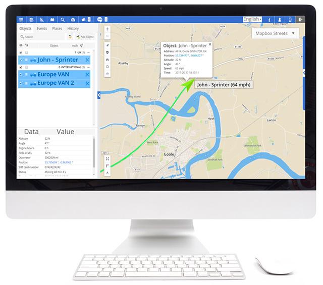 Softvérna Sledovanie GPS