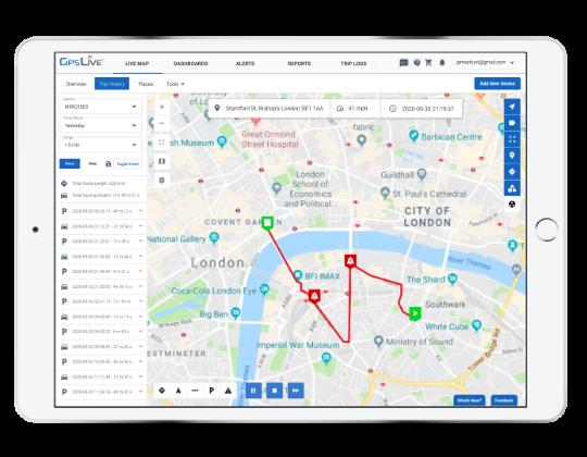 Aplikácia GPS monitoring vozidiel Moja poloha