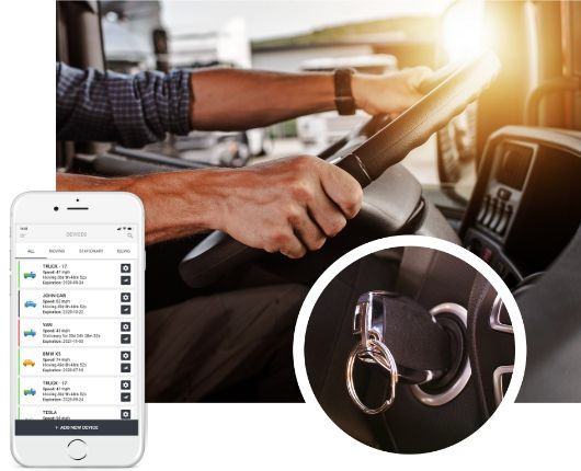 GPS lokátor do auta Identifikácia vodiča